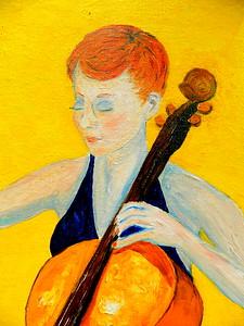 149a-The Cellist, 16x20, oil on canvas board, march 11, 2016 -detail DSCN0149