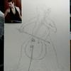 131-The Cellist, 16x20, sketch on canvas board, march 9, 2016 DSCN0131