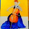 143-The Cellist, 16x20, oil on canvas board, march 11, 2016 DSCN0143