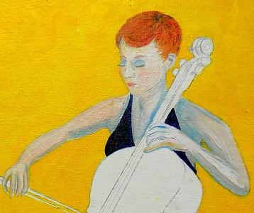 136a-The Cellist, 16x20, oil on canvas board, march 10, 2016 DSCN0136-detail