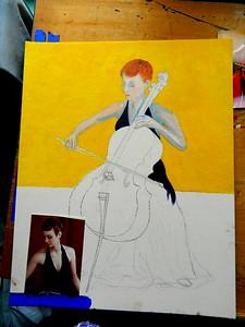 136-The Cellist, 16x20, oil on canvas board, march 10, 2016 DSCN0136