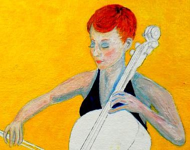 140a-The Cellist, 16x20, oil on canvas board, march 10, 2016-430pmDSCN0140-detail