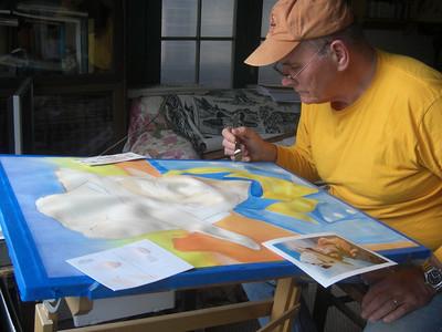 """""""Artist at work"""" :)"""