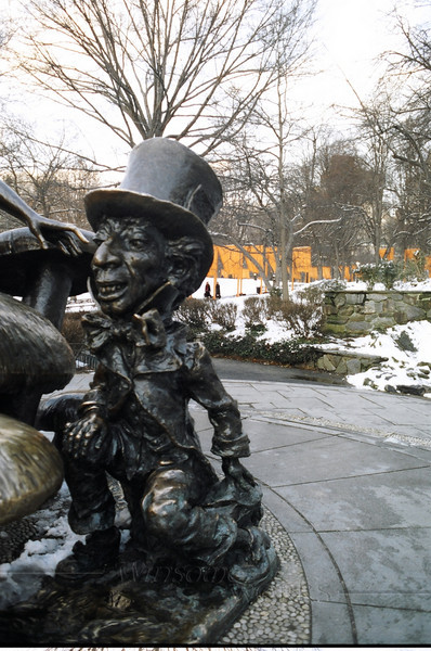 """""""The Gates"""" behind the Mad Hatter sculpture; Central Park. NYC"""