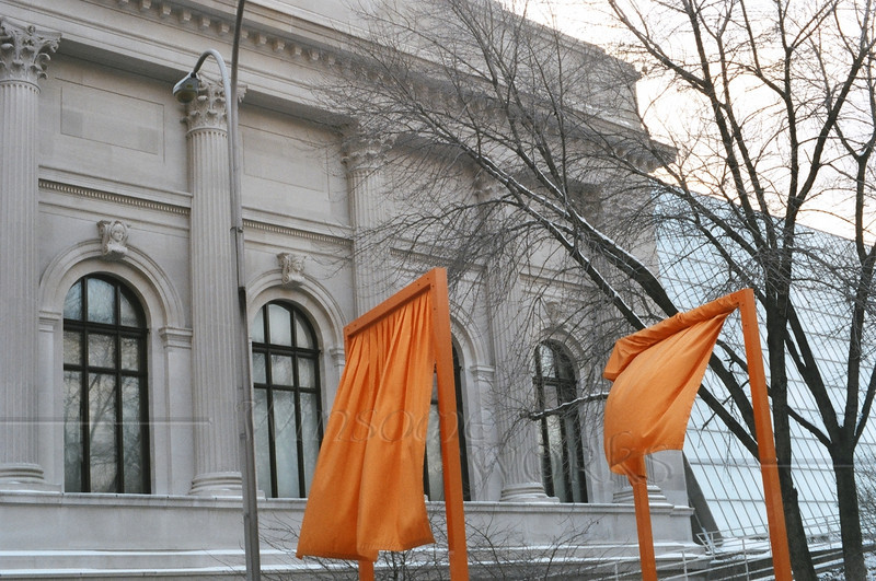 """""""The Gates"""", in front of the Metropolitan Museum of Art, NYC"""