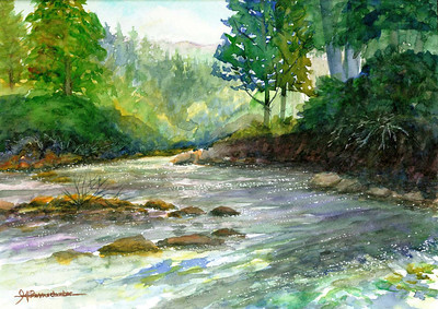 "Near Jackson Creek 10""x15"" Watercolor on Arches 140lb W/C Paper Private Collection"