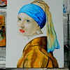 13 Homage to Vermeer - Girl With A Pearl Earring, 11x14, oil, july 13, 2016 DSCN0129