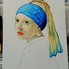 10 Homage to Vermeer - Girl With A Pearl Earring, 11x14, oil, july 13, 2016 DSCN0126