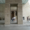 Look thru portal showing Rita IFO Temple of Dendur