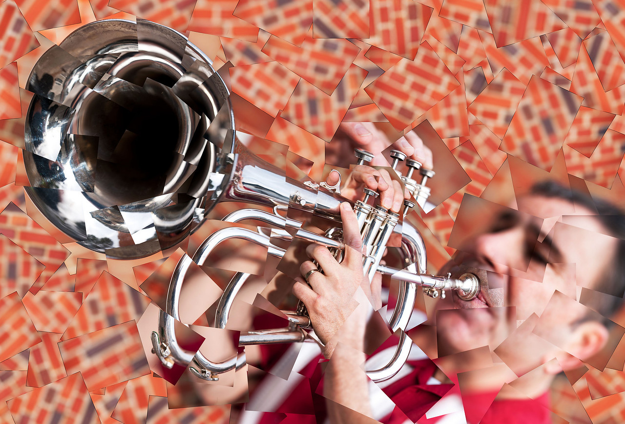 "The Trumpeter<br /> <br /> Original Size - 42"" x 28"""