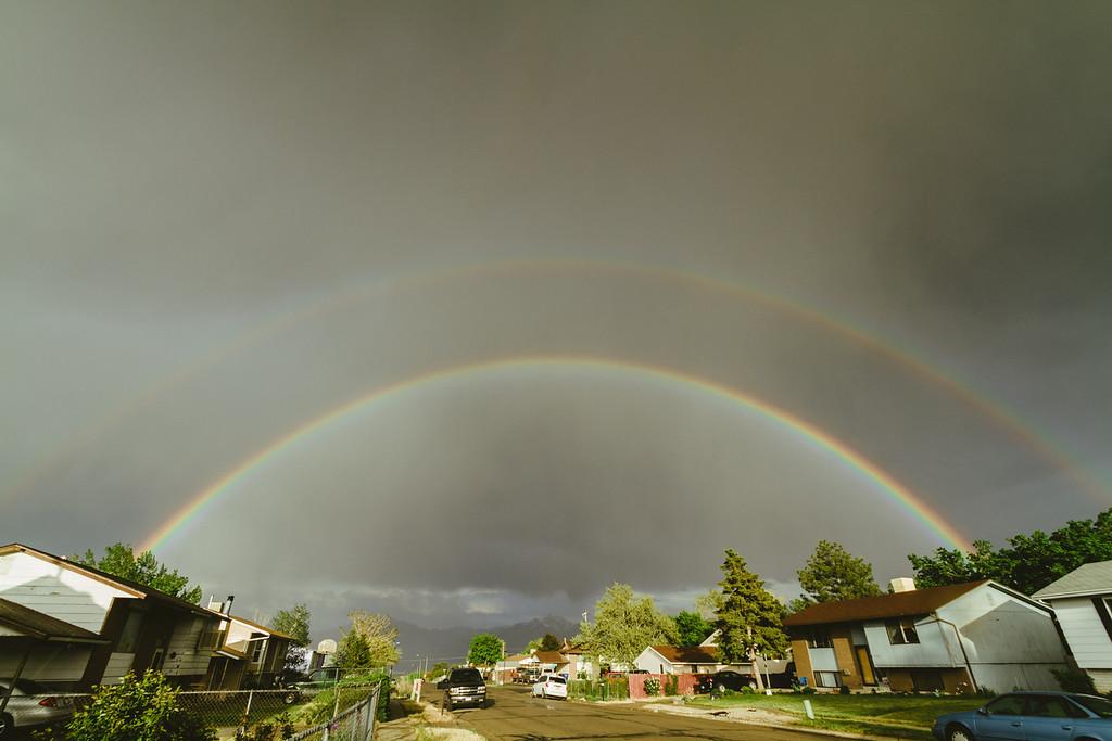 Double Rainbow all the way across the sky! OMG OMG! WOW!