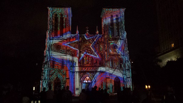 The Saga Video Installation - Cathedral of San Fernando - San Antonio - 8 May '16