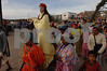 Tarahumara indigenous parading Saint into church courtyard durning Holy Week Copper Canyon<br /> #2662
