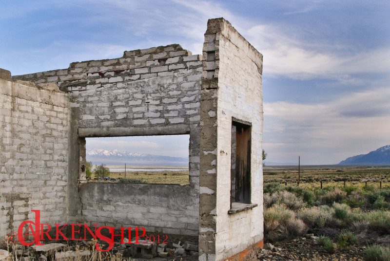 Nowhere, Nevada<br /> Out on the range roads between Toquima Caves and Tonopah there lies a past, a hope, not abaondonened and in decay.  Framing the mountains, a view unseen.