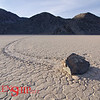 Race Track Playa– Death Valley, CA <br /> Invisible hands push rocks of considerable size and weight across the desert floor.