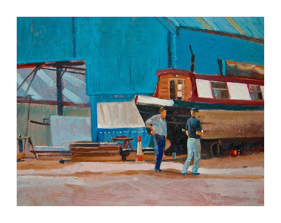 ' Time For Tea ' Staniland's Boatyard.