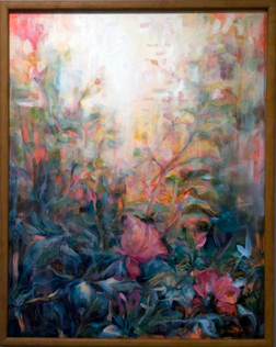 Bloom Where He Plants You<br /> Oil on Canvas<br /> Kelly Schumacher, BFA Sp 10