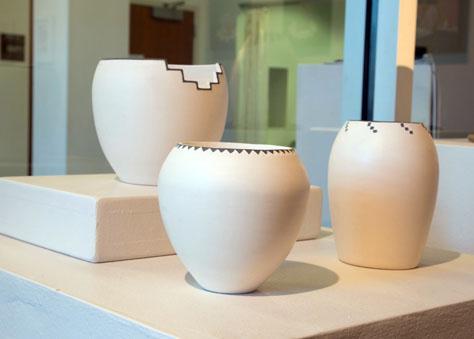 Lucas Todd, BFA 2014<br /> White Indian Clay Pots