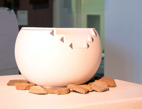 Lucas Todd, BFA 2014<br /> White Indian Clay Pot