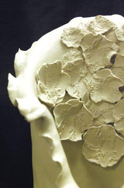 Close up of ceramic<br /> Nancy Rogers, MFA Fall '09