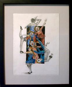 Clown Car<br /> Graphite and Color Pencil<br /> Julia Easter, BFA  Fall '09