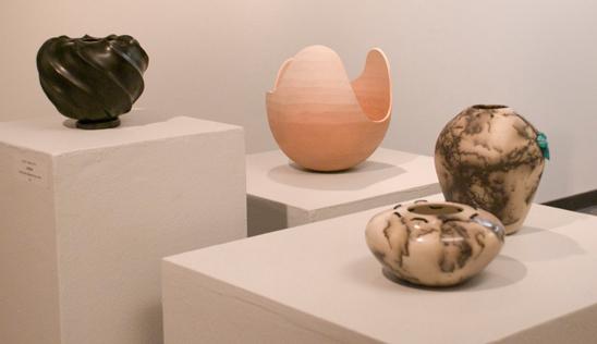Ceramics<br /> Hand coiled Alternative firings<br /> Craig Hoffmann, MA  Fall '09