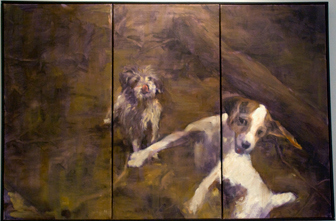Look at me<br /> Oil on panel<br /> Rachel Davis, BFA Sp 10