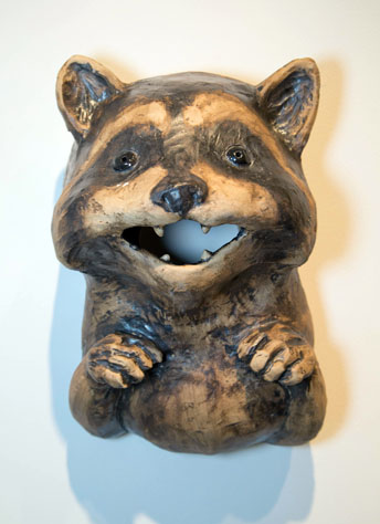 Bill Perry, MFA 2014<br /> Raccoon Birdhouse
