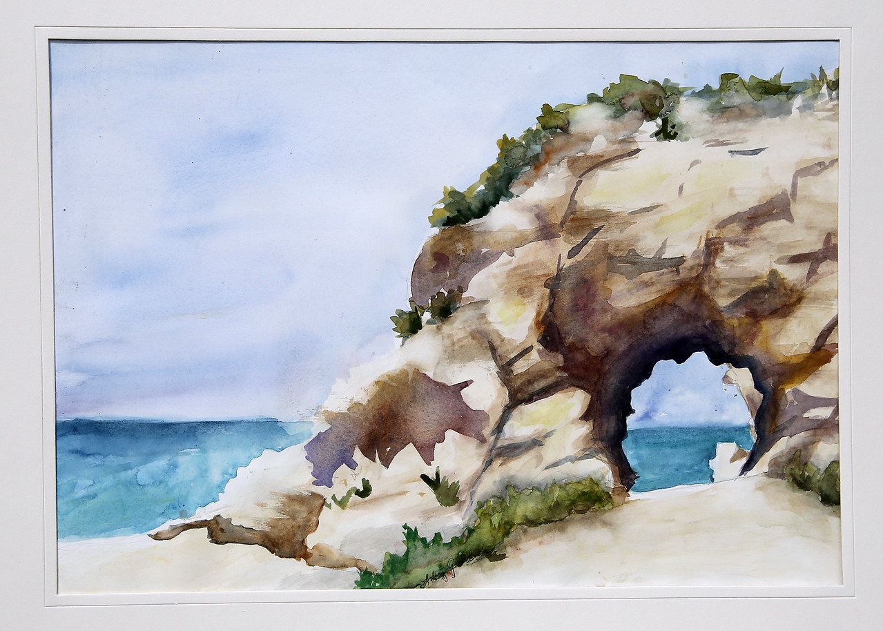 View Through Rock, Watercolor, 16x24