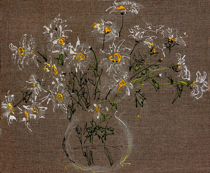 6388 - Daisies - 20x24 - Acrylic on Linen
