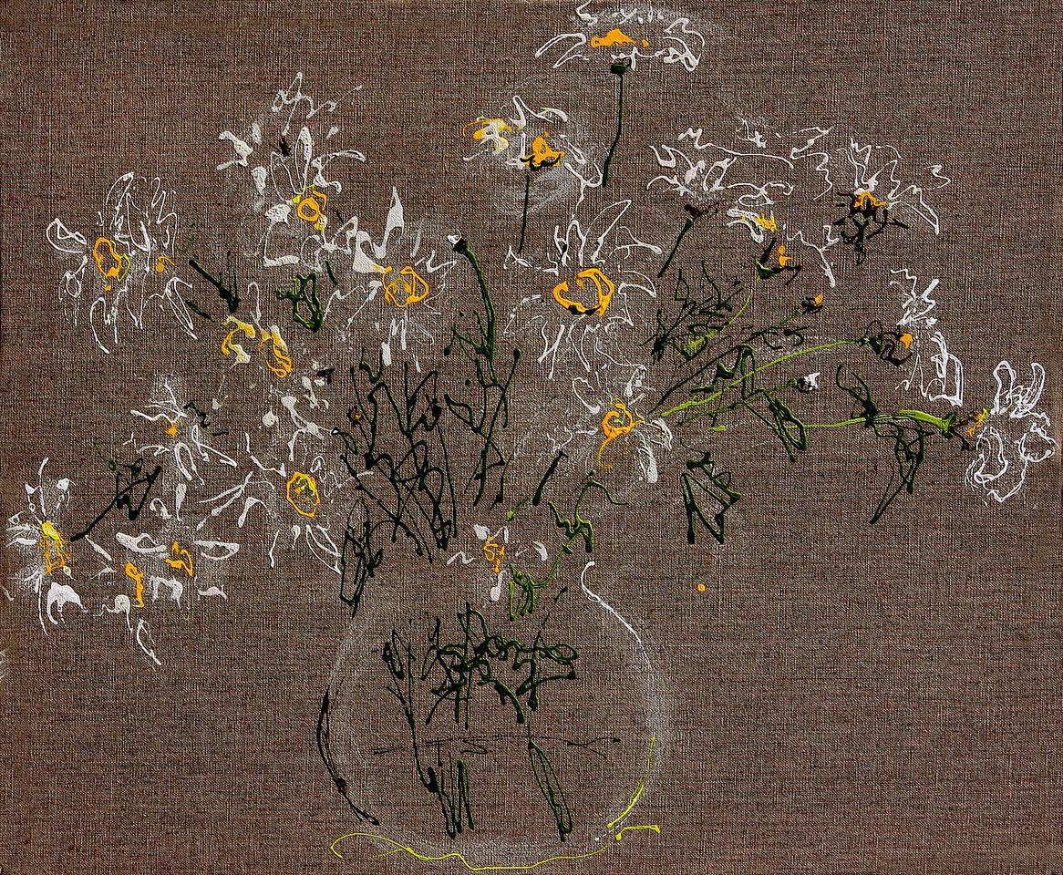 6388 - Daisies - 20x24 - Acrylic on Linen