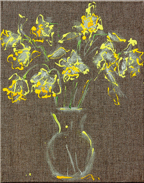 6370 - Daffodils 39, 20x16, Acrylic on Linen - use this for the main page