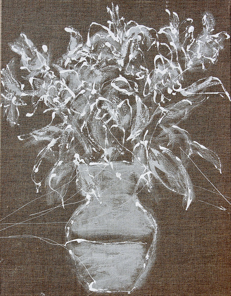 6349 -  White Bouquet 29,  28 x 22 acrylic on linen