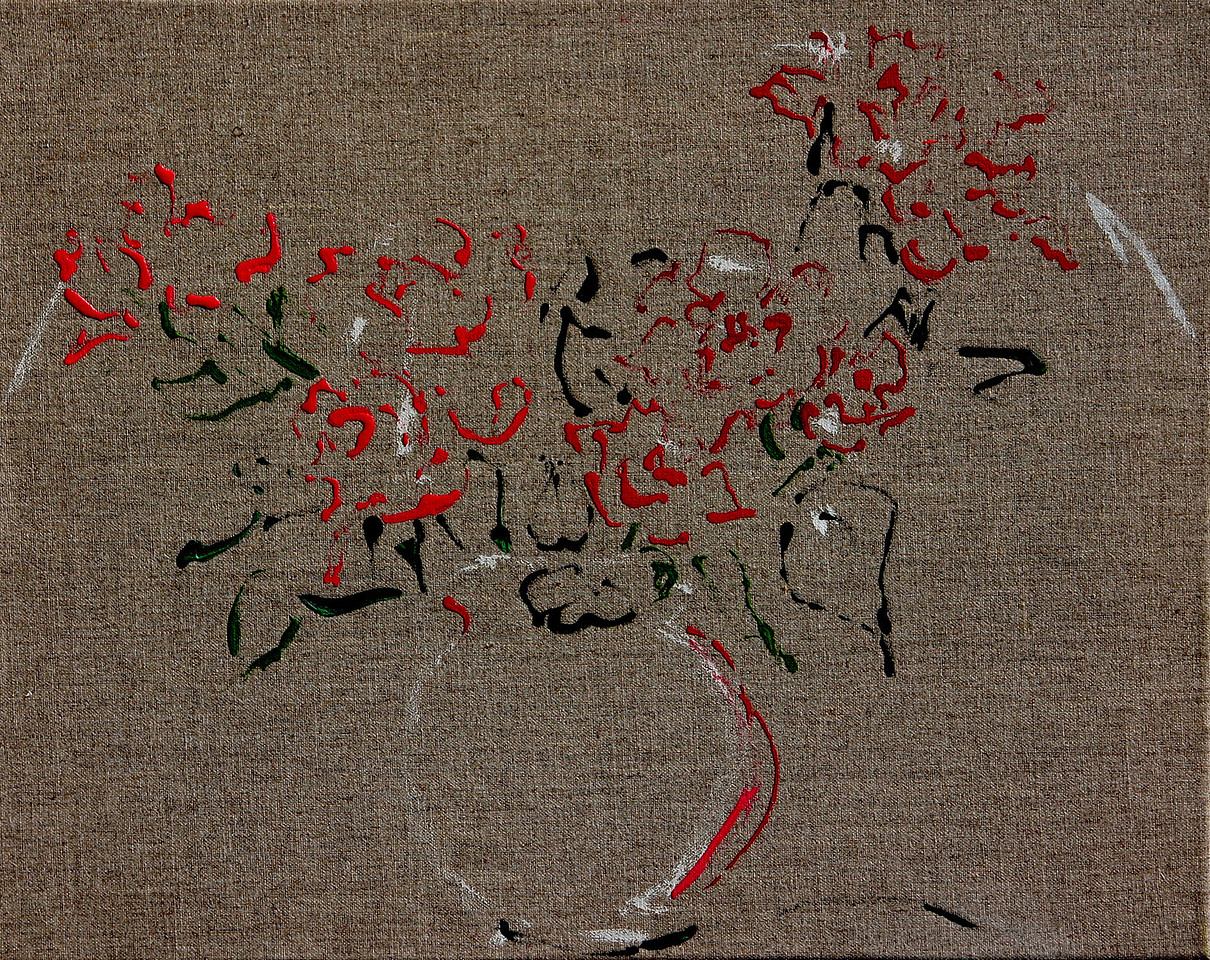 6391 - Spray Roses - 16x20 - Acrylic on Linen