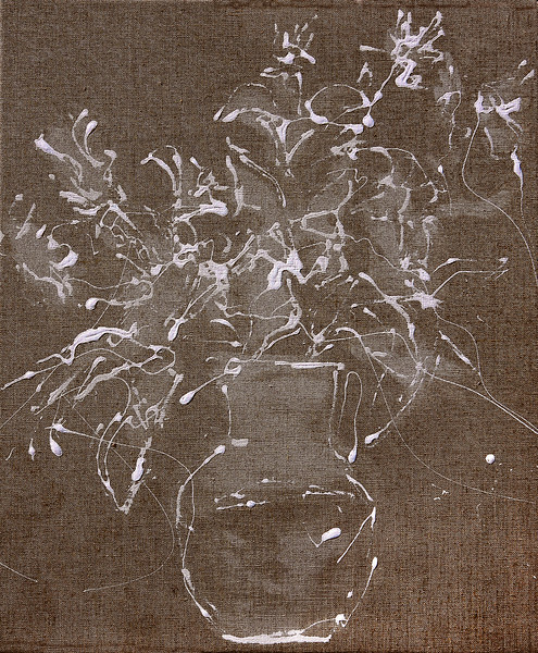 6355  - White Bouquet One -  24x20  - acrylic on linen