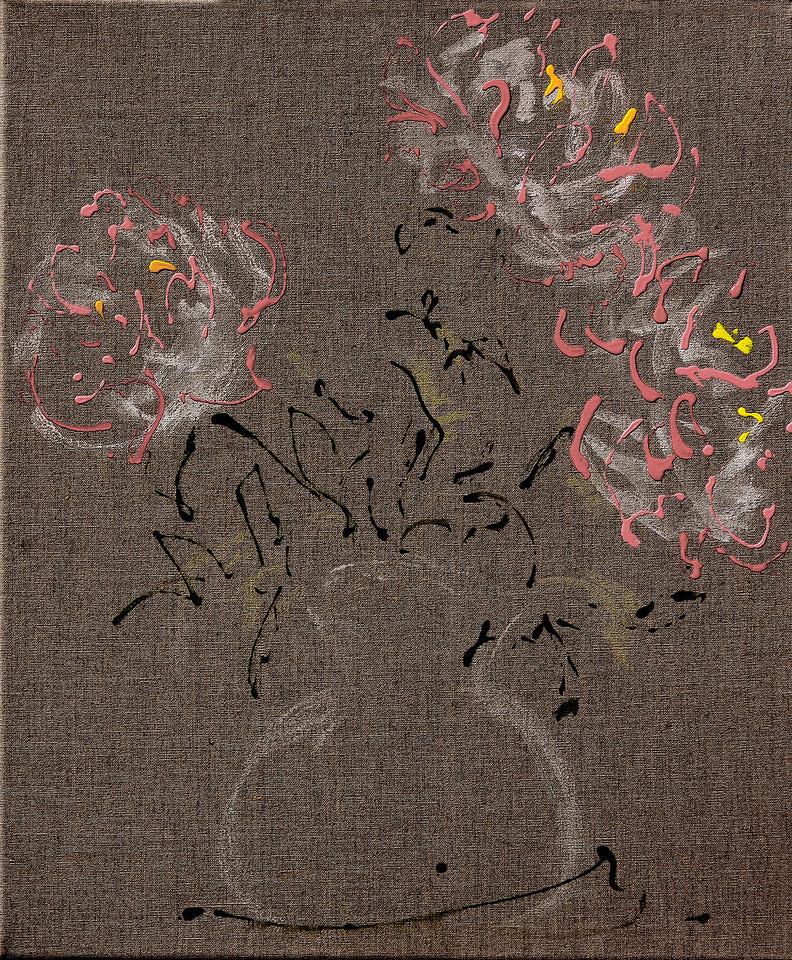 6357 - Nine Peonies, 24 x 20, Acrylic on Linin