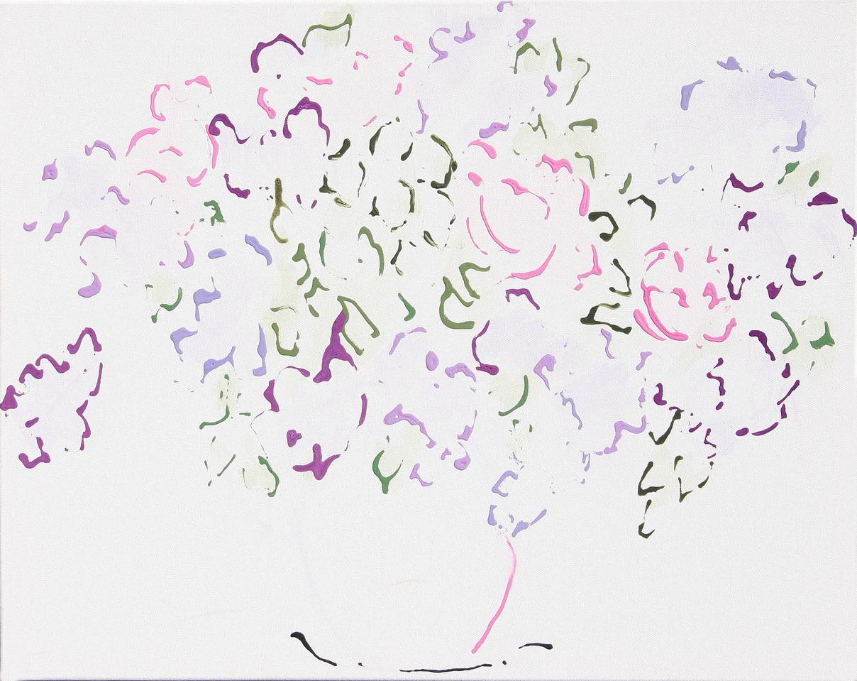 6385 - Lilacs 49 - 20x24 - Acrylic on Canvas