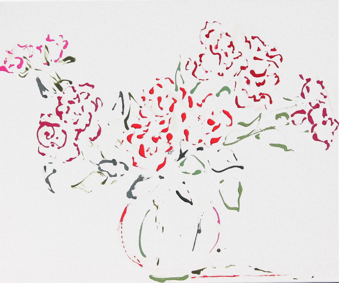6389 - Spray Roses - 20x24 - Acrylic on Canvas