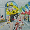 1-Greg Lemond, 1989 Tour de France, Paris, 11x15, watercolor, completed sep 1, 2015 DSCN0807