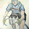 1a-Andre Leducq, Tour de France 1930  14x16, color pencil, july 23, 2015 CIMG1286