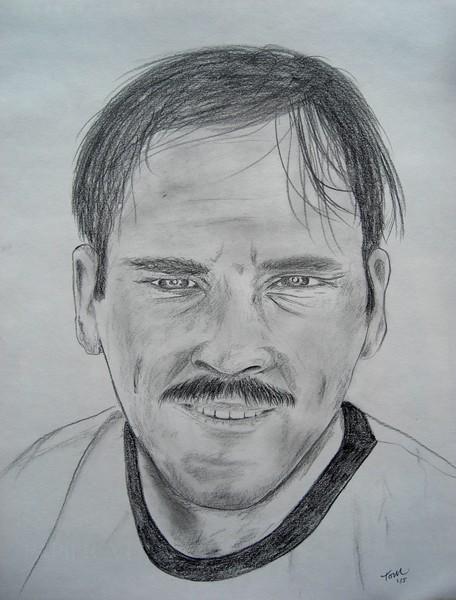 Tom - Self Portrait, May 1970 11x14, graphite pencil, april 27, 2015