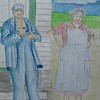 1-Grandpa & Grandma - on the Farm, 9x12, watercolor r & graphite pencil, aug 1, 2015 CIMG1309