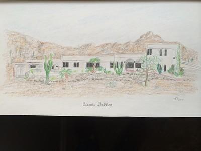 Casa Bella - birthday card. 11x7, color pencil, jan 23, 2015.