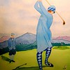 1-Lady Teeing Off, the Lake Placid Club,  1920, 9x12, watercolor, dec 1, 2015 DSCN9151