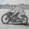 Jean Claude Barrois JAP--rudge-whitworth at Bonneville , 2010  18x24, graphite pencil, march 18, 2015 CIMG9651