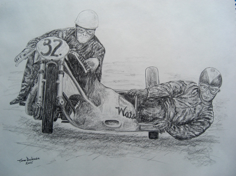 Eric Oliver, Stan Dibben, Spa-Francorchamps, 1953  11x14, graphite pencil, mar 8, 2015  CIMG9610