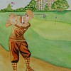 1a-The Eighteenth Hole - Westchester CC, 1930, 11x15, watercolor,completed oct 21, 2015DSCN8937