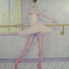 Ballerina at the Bar no 2  14x17, graphite & color pencil, jan 2, 2015 CIMG9409ss