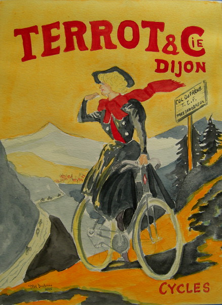 Terrot Cycles - Col Du Frene, 9x12, watercolor, july 29, 2015 CIMG1303