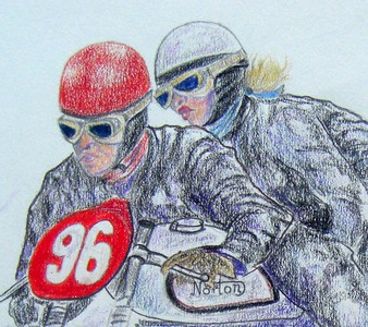 1-Jacques Drion & Ingeborg Stoll-LaForge, Austria, march 31, 1957  14x17, color pencil, feb 21, 2015 CIMG9552B